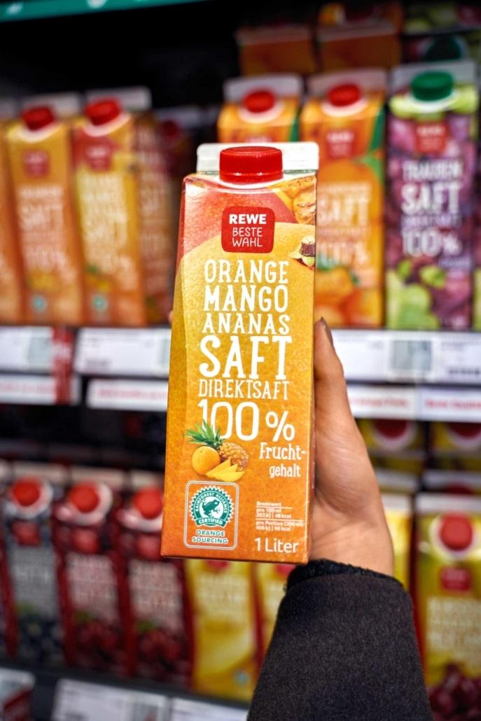 Orange Mango Ananas Saft Supermarkt Berlin-Tegel